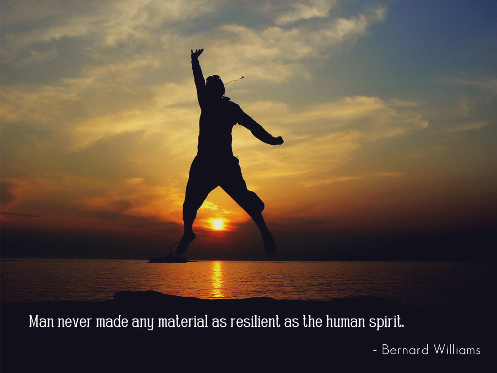 Human Spirit Quotes Quotesgram: Man Never Made Any Material As Resilient As The Human