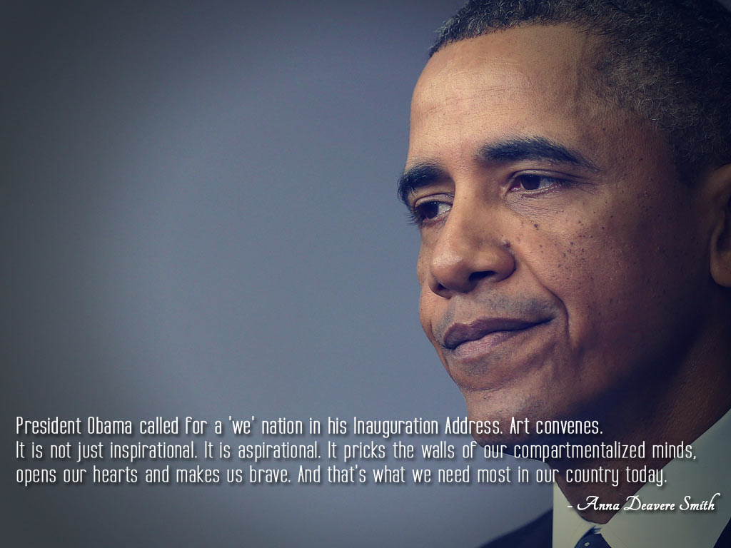 Presidents Quotes President Obama Called For A 'we' Nation In His Inauguration