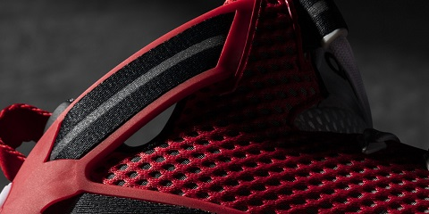 """best website 681d3 a317a The D Rose 6 """"Home"""" sees a primarily red upper, with a black to white  gradient treatment tying the colorway together."""