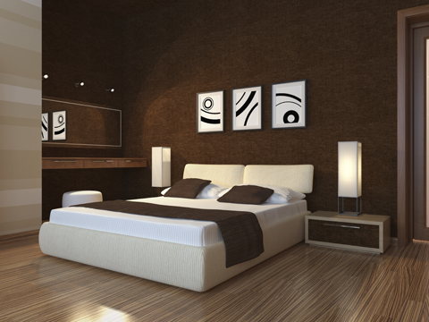 less is more with mood lighting in the bedroom